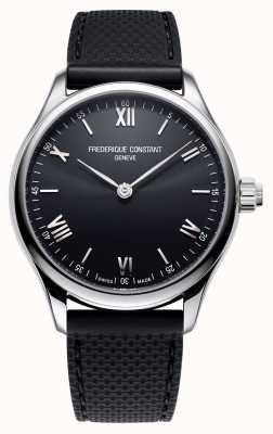 Frederique Constant Mens | vitalità | smartwatch | quadrante nero | gomma nera FC-287B5B6