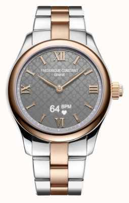 Frederique Constant Donna | vitalità | smartwatch | quadrante grigio | due toni FC-286BG3B2B
