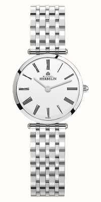 Michel Herbelin | donne | epsilon | bracciale in acciaio inossidabile quadrante bianco | 17116/B01N