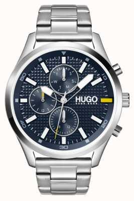 HUGO #Chase uomo | quadrante blu | orologio in acciaio inossidabile 1530163