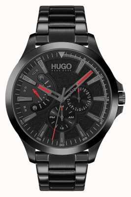 HUGO #leap casual | quadrante nero | braccialetto ip nero 1530175