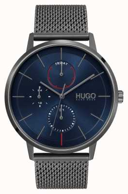 HUGO #esiste affari | quadrante blu | cinturino in rete ip grigio 1530171