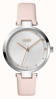 HUGO Ladies #hope casual | quadrante argento | cinturino in pelle color cipria 1540074