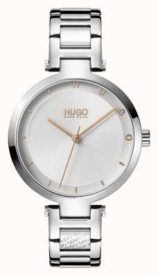 HUGO Ladies #hope casual | quadrante argento | bracciale in acciaio inossidabile 1540076