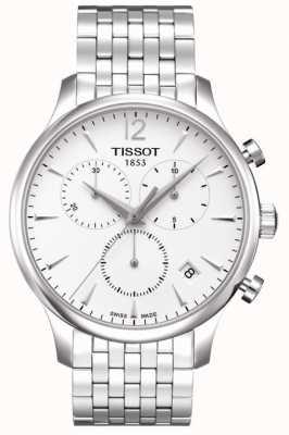Tissot Tradizione | cronografo | quadrante bianco | acciaio inossidabile T0636171103700