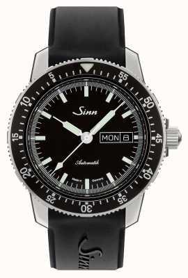 Sinn 104 st sa i classic watch pilot cinturino in caucciù nero 104.010 BLACK RUBBER