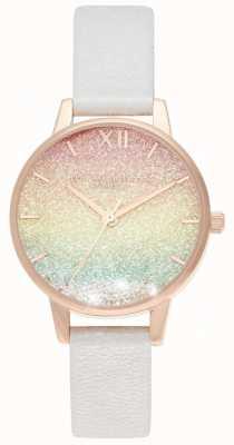 Olivia Burton Orologio midi con glitter arcobaleno quadrante midi OB16EX228