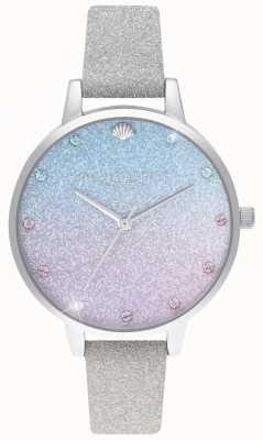 Olivia Burton Quadrante demi glitter ombre, cinturino glitter con pennarelli OB16US49