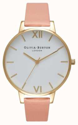 Olivia Burton Orologio quadrante bianco polveroso rosa e oro OB16BDW13
