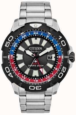 Citizen Promaster diver gmt | bracciale in acciaio inossidabile quadrante nero BJ7128-59E