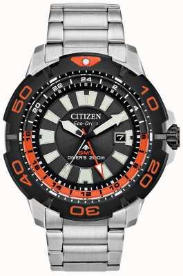 Citizen Promaster diver gmt uomo | acciaio inossidabile | quadrante nero | accento arancione BJ7129-56E