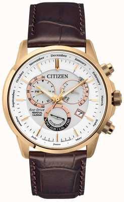Citizen Orologio calendario perpetuo Calibre 8700 | cinturino in pelle marrone BL8153-11A