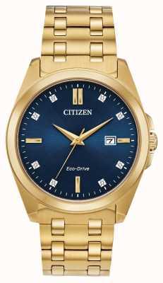 Citizen Orologio placcato oro Corso eco-drive pvd BM7103-51L