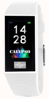 Calypso Unisex | smartime | cinturino in silicone bianco + cinturino gratuito K8500/1