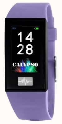 Calypso Unisex | smartime | cinturino in silicone viola + cinturino gratuito K8500/2