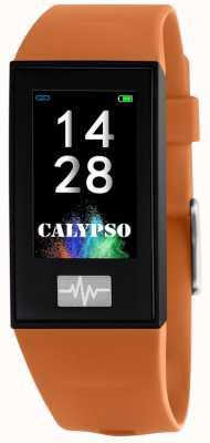 Calypso Unisex | smartime | cinturino in silicone arancione + cinturino gratuito K8500/3