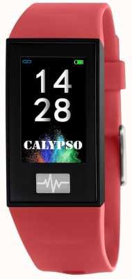 Calypso Unisex | smartime | cinturino in silicone rosso + cinturino in omaggio K8500/4