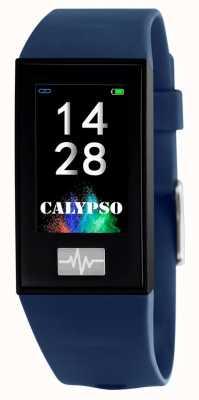 Calypso Unisex | smartime | cinturino in silicone blu + cinturino gratuito K8500/5