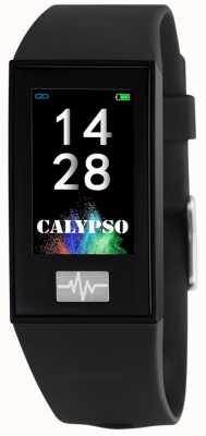 Calypso Unisex | smartime | cinturino in silicone nero + cinturino gratuito K8500/6