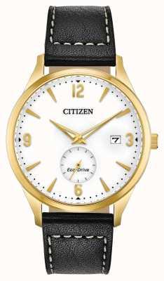 Citizen Custodia in pvd oro eco-drive | cinturino in pelle nera BV1112-05A