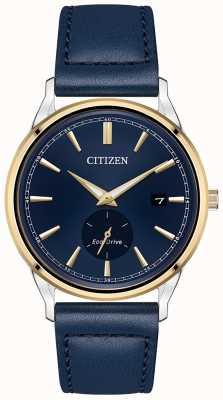 Citizen Orologio quadrante blu ecopelle in pelle blu BV1114-18L