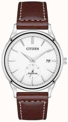 Citizen Cinturino in pelle marrone eco-drive | quadrante bianco BV1119-14A