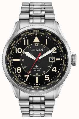 Citizen Orologio da uomo promaster nighthawk in acciaio inossidabile con quadrante nero BX1010-53E