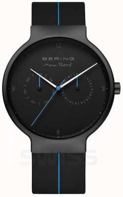 Bering Max rene maschile | cinturino in silicone nero | quadrante nero / blu 15542-428