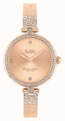 Coach Parco delle donne | bracciale in acciaio inossidabile oro rosa | quadrante rosa 14503651