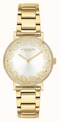 Coach Perry delle donne | bracciale in acciaio placcato oro | quadrante argentato 14503638
