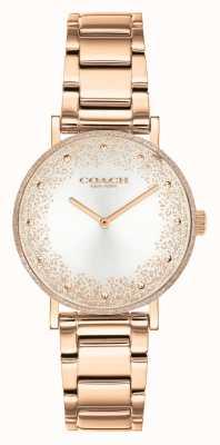 Coach Perry delle donne | bracciale in acciaio oro rosa | quadrante argentato 14503639