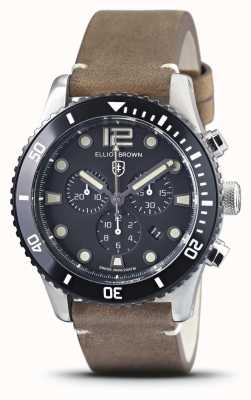Elliot Brown Bloxworth | cinturino in pelle marrone vintage | quadrante nero 929-016-L21