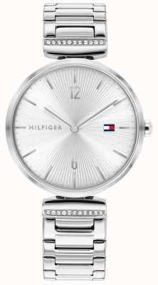 Tommy Hilfiger Aria delle donne | bracciale in acciaio inossidabile argento | quadrante argentato 1782273