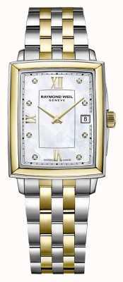 Raymond Weil Toccata femminile | bracciale in acciaio bicolore | quadrante con diamanti 5925-STP-00995
