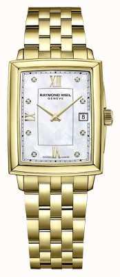 Raymond Weil Toccata femminile | bracciale placcato oro pvd | quadrante con diamanti 5925-P-00995
