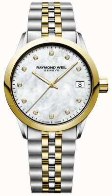 Raymond Weil Donna | libero professionista | diamante | madreperla | due toni 5634-STP-97081