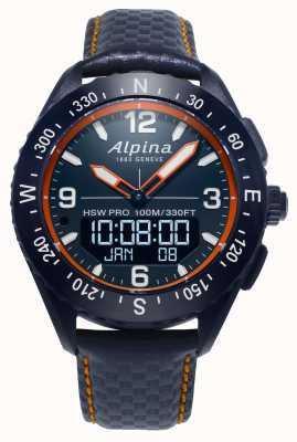 Alpina Smartwatch Alpinerx con cinturino in pelle blu navy AL-283LNO5NAQ6L
