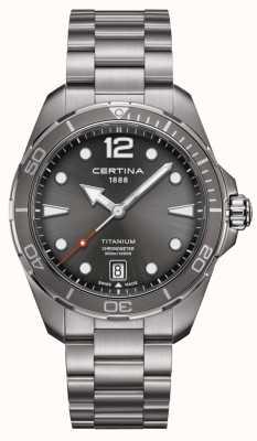 Certina Azione DS | bracciale in titanio | quadrante grigio | COSC C0324514408700