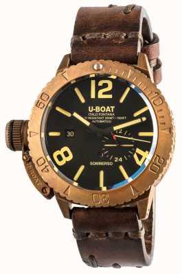 U-Boat Sommerso 46 bronzo automatico cinturino in pelle marrone 8486