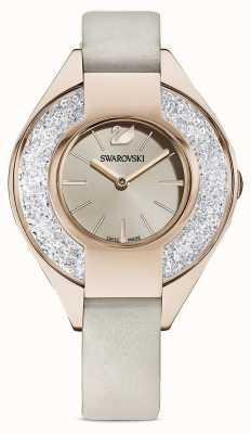 Swarovski Sportivo cristallino | cinturino in pelle grigia | quadrante champagne 5547976