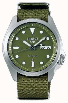 Seiko 5 cinturino sportivo da uomo con quadrante verde in nylon verde SRPE65K1