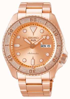 Seiko Oro rosa | mens | automatico | sport | braccialetto SRPE72K1