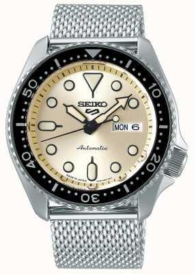 Seiko Automatico | mens | sport | braccialetto a maglie | crema SRPE75K1