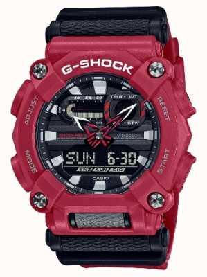 Casio G-shock | servizio pesante | ora mondiale | resina rossa GA-900-4AER