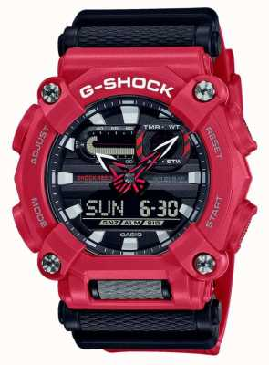 Casio G-shock | pesante | ora mondiale | resina rossa GA-900-4AER