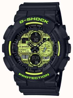Casio G-shock | camo digitale | resina nera GA-140DC-1AER