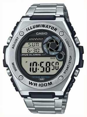 Casio Digitale | illuminatore | acciaio inossidabile | MWD-100HD-1AVEF