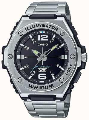 Casio Illuminatore | quadrante nero | acciaio inossidabile | MWA-100HD-1AVEF