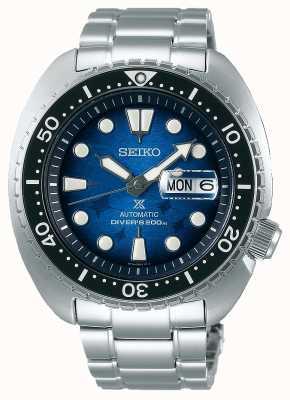 Seiko Gli uomini salvano l'oceano | bracciale in acciaio inossidabile | quadrante blu SRPE39K1