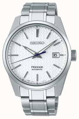 Seiko Presage | mens | quadrante bianco shrioneri | automatico | serie taglienti SPB165J1